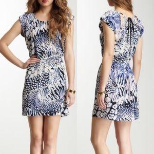 Rebecca Minkoff Blue Leopard Silk Dress